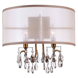 "14"" 2 Light Wall Sconce with French Gold finish"