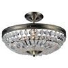 """Picture of 14"""" 3 Light Bowl Flush Mount with Antique Brass finish"""
