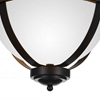 "Picture of 14"" 3 Light Bowl Flush Mount with Autumn Bronze finish"