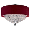 """Picture of 14"""" 3 Light Drum Shade Flush Mount with Chrome finish"""