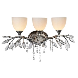 """14"""" 3 Light Wall Sconce with Speckled Nickel finish"""