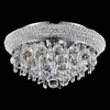 """Picture of 14"""" 4 Light  Flush Mount with Chrome finish"""