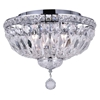 "Picture of 14"" 4 Light Bowl Flush Mount with Chrome finish"