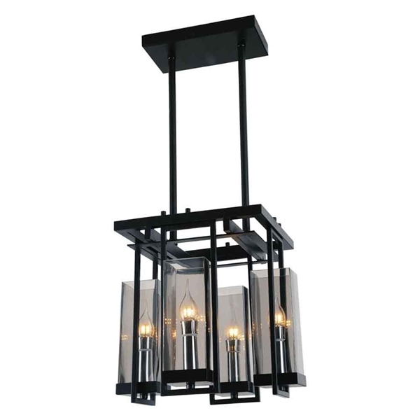 "Picture of 14"" 4 Light Up Mini Pendant with Black finish"