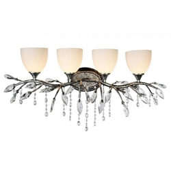 """14"""" 4 Light Wall Sconce with Speckled Nickel finish"""