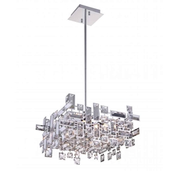 "14"" 6 Light  Chandelier with Chrome finish"