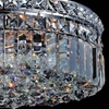 """Picture of 14"""" Bossolo Transitional Crystal Round Flush Mount Chandelier Polished Chrome 4 Lights"""