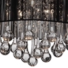 "Picture of 14"" Gocce Modern Crystal Round Flush Mount Ceiling Lamp Polished Chrome Black String Shade 6 Lights"