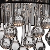 """Picture of 14"""" Gocce Modern Crystal Round Flush Mount Ceiling Lamp Polished Chrome Black String Shade 6 Lights"""