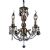"""Picture of 14"""" Imperatore Traditional Crystal Candle Round Chandelier Antique Brass 3 Lights"""