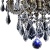 "Picture of 14"" Imperatore Traditional Crystal Candle Round Chandelier Antique Brass 4 Lights"