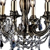"""Picture of 14"""" Imperatore Traditional Crystal Candle Round Chandelier Antique Brass 4 Lights."""