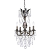 """Picture of 14"""" Imperatore Traditional Crystal Candle Round Chandelier Antique Brass 5 Lights"""