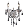 "Picture of 14"" Maria Theresa Traditional Crystal Wall Sconce Polished Chrome 2 Lights"