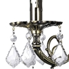 """Picture of 14"""" Ottone Traditional Crystal Candle Wall Sconce Antique Brass Finish 1 Light"""