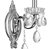 "Picture of 14"" Ottone Traditional Crystal Candle Wall Sconce Polished Chrome 1 Light"