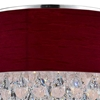 "Picture of 14"" Struttura Modern Crystal Round Flush Mount Double Wine Red Fabric 3 Lights"