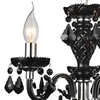 "Picture of 14"" Victorian Traditional Crystal Round Mini Chandelier Jet Black Leaf Crystals 3 Lights"
