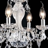 "Picture of 14"" Victorian Traditional Crystal Round Mini Chandelier Polished Chrome Leaf 4 Lights"