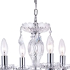 "Picture of 14"" Victorian Traditional Crystal Round Mini Chandelier Polished Chrome New Leaf 4 Lights"