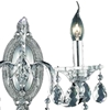 """Picture of 14"""" Vittoria Traditional Crystal Candle Wall Sconce Polished Chrome 2 Lights"""