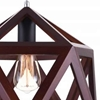"""Picture of 15"""" 1 Light  Pendant with Black & Wood finish"""