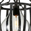 """Picture of 15"""" 1 Light Down Mini Pendant with Antique Black finish"""