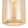 "Picture of 15"" 1 Light Down Mini Pendant with Transparent Amber finish"