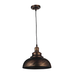 "15"" 1 Light Down Pendant with Antique Copper finish"