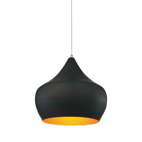 "Picture of 15"" 1 Light Down Pendant with Black finish"