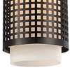 "Picture of 15"" 1 Light Drum Shade Mini Pendant with Black finish"