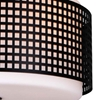 "Picture of 15"" 2 Light Drum Shade Flush Mount with Black finish"