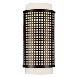 "15"" 2 Light Wall Sconce with Black finish"