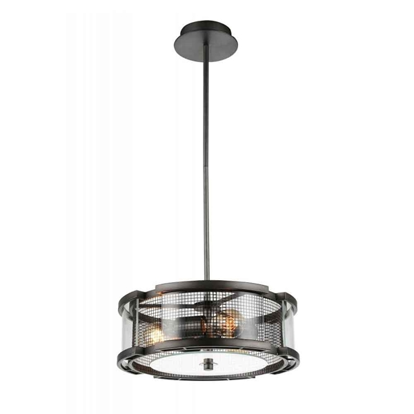 """Picture of 15"""" 3 Light  Chandelier with Black Silver finish"""