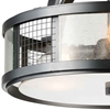 "Picture of 15"" 3 Light  Flush Mount with Gray finish"