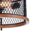 "Picture of 15"" 3 Light Cage Flush Mount with Black finish"