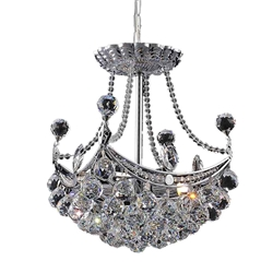 "15"" 4 Light  Mini Chandelier with Chrome finish"