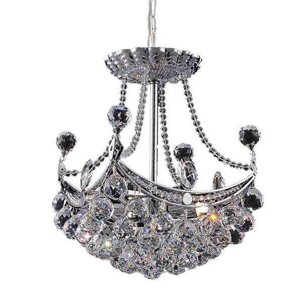 "Picture of 15"" 4 Light  Mini Chandelier with Chrome finish"