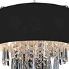 """Picture of 15"""" 4 Light Drum Shade Mini Pendant with Black finish"""