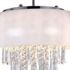 "Picture of 15"" 4 Light Drum Shade Mini Pendant with White finish"