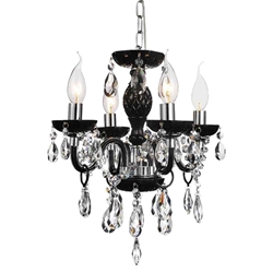 "15"" 4 Light Up Chandelier with Chrome finish"