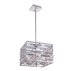 """15"""" 6 Light Drum Shade Chandelier with Chrome finish"""