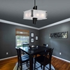 "Picture of 15"" 6 Light Pendant with Black Finish"