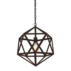 """16"""" 1 Light Down Mini Pendant with Antique Copper finish"""