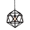 """Picture of 16"""" 1 Light Down Mini Pendant with Black finish"""