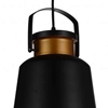 "Picture of 16"" 1 Light Down Pendant with Black finish"