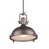 "Picture of 16"" 1 Light Down Pendant with Gray finish"