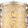 """Picture of 16"""" 2 Light Drum Shade Mini Pendant with Rubbed Silver finish"""