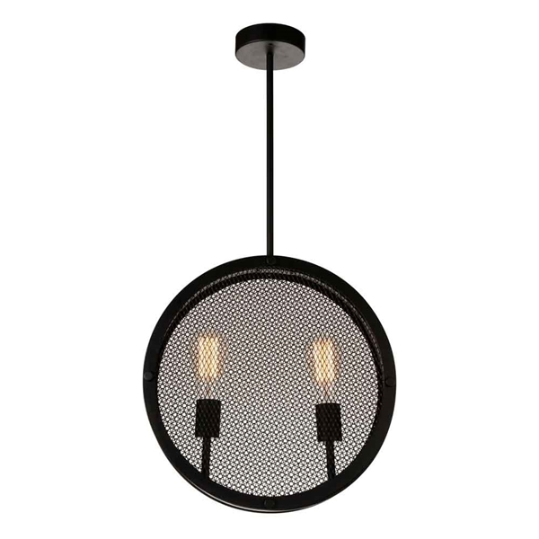 "Picture of 16"" 2 Light Up Pendant with Black finish"