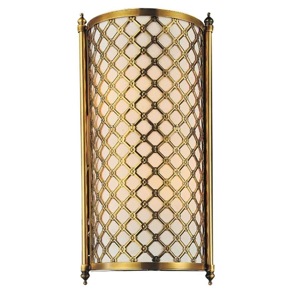 "Picture of 16"" 2 Light Wall Sconce with French Gold finish"